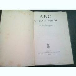 ABC OF PLAIN WORDS - ERNEST GOWERS