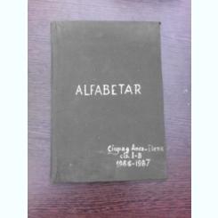 ALFABETAR CIUPAS ANCA ELENA, CLASA IB, 1986-1987
