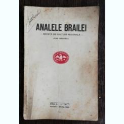 ANALELE BRAILEI -REVISTA DE CULTURA REGIONALA ANUL II NR 1