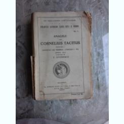 ANALELE LUI CORNELIUS TACITUS - TRADUCERE DE E. LOVINESCU  VOL.1, EDITIA A III-A