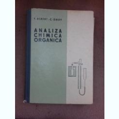 Analiza chimica organica - F. Albert