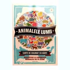 ANIMALELE LUMII. CARTE DE COLORAT CU HARTI