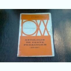 ANTOLOGIE DE TEXTE PEDAGOGICE - E.M. BRANDZA