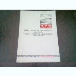 ANUARUL LICEULUI DIN CRISTURU-SECUIESC JUDETUL HARGHITA  (EDITIE BILINGVA ROMANA/MAGHIARA)