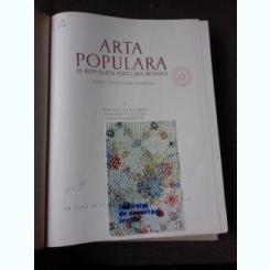 ARTA POPULARA IN REPUBLICA POPULARA ROMINA,PORT.TESATURI.CUSATURI-TANCRED BANATEANU , GH. FOCSA , EMILIA IONESCU