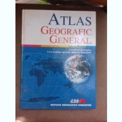 ATLAS GEOGRAFIC GENERAL CU O SECTIUNE SPECIALA DEDICATA ROMANIEI