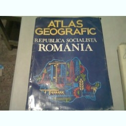 ATLAS GEOGRAFIC REPUBLICA SOCIALISTA ROMANIA  (1985)