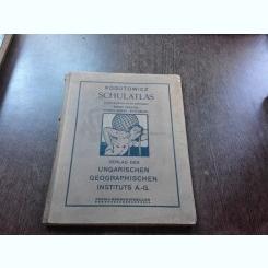 ATLAS GEOGRAFIC SCOLAR, TEXT IN LIMBA GERMANA