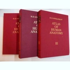 ATLAS OF HUMAN ANATOMY IN THREE VOLUMES BY R.D. SINELNIKOV , MOSCOW ,