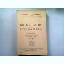 AUTORI LATINI PENTRU CLASA VII-A DE LICEU - G. CORNILESCU