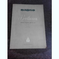 BEETHOVEN,SONATA PENTRU PIAN NR.10  (PARTITURA)