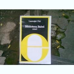 BIBLIOTECA BABEL - LAURENTIU ULICI