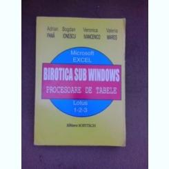 Birotica sub Windows, procesoare de tabele - Adrian Pana