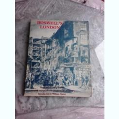 BOSWELL'S LONDON, GRAFICA DE JAMES BOSWELL  (TEXT IN LIMBA ENGLEZA)