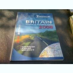 BRITAIN TOURIST & MOTORING ATLAS 2008  (CARTE IN LIMBA ENGLEZA)