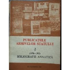 BUCURESTI-PUBLICATIILE ARHIVELOR STATULUI