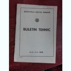 BULETIN TEHNIC NR.1/1978, REGISTRUL NAVAL ROMAN