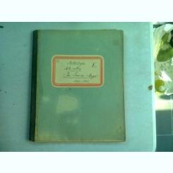 CAIET CURS ARHEOLOGIE, ARTA ANTICA, APARTINAND LUI I. IONESCU BUJOR, AN 1902-1903