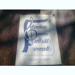 CANTECE PENTRU SOLISTI VOCALI
