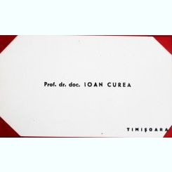 CARTE DE VIZITA A PROF.DR.DOC. IOAN CUREA
