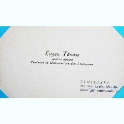 CARTE DE VIZITA A PROFESORULUI UNIVERSITAR EUGEN TANASE
