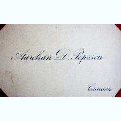 CARTE DE VIZITA AURELIAN D. POPESCU