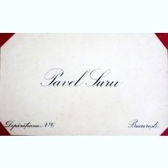 CARTE DE VIZITA PAVEL SURU