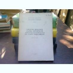 Cercetari geologice asupra depozitelor jurasice si eocretatice din cuveta Rarau - Breaza - Ilie Turculet