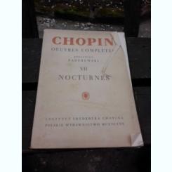 CHOPIN, OEUVRES COMPLETES VII, NOCTURNES (PARTITURI)