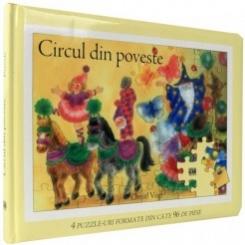 CIRCUL DIN POVESTE, 4 PUZZLE-URI FORMATE DIN CATE 96 PIESE