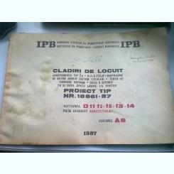 CLADIRI DE LOCUIT. PIESE DESENATE ARHITECTURA. PROIECT TIP NR. 18861-87. VOLUMUL A8