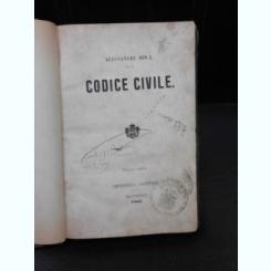 CODICE CIVILE SI CODICE DE PROCEDURA CIVILA - ALEXANDRU IOAN I, 2 CARTI COLIGATE