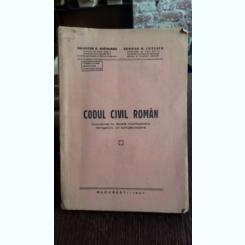 CODUL CIVIL ROMAN - SALVATOR A. BRADEANU, GEORGE N. LUTESCU