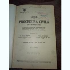 Codul de procedura civila din Transilvania
