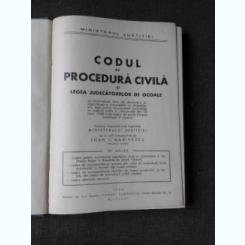 CODUL DE PROCEDURA CIVILA SI LEGEA JUDECATORIILOR DE OCOALE, 1944