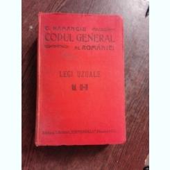 CODUL GENERAL AL ROMANIEI, LEGI UZUALE VOL.III - IV - HAMANGIU