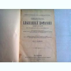 COLLECTIUNE DE LEGIUIRILE ROMANIEI VECHI SI NUOI - IOAN I. BUJOREANU   VOL.I - PROMULGATE PANA LA FINELE ANULUI 1870