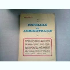 CONSILIILE DE ADMINISTRATIE