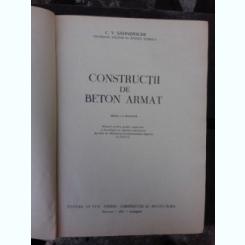CONSTRUCTII DE BETON ARMAT - C.V. SAHNOVSCHI  (MANUAL PENTRU SCOLILE SUPERIOARESI FACULTATILE DE INGINERI CONSTRUCTORI)