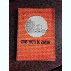 CONSTRUCTII DE ZIDARIE - M.V. CELBAEV