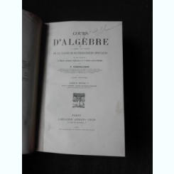 COURS D'ALGEBRE - B. NIEWENGLOWSKI  (TEXT IN LIMBA FRANCEZA)