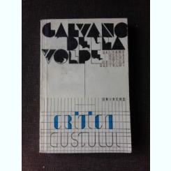 CRITICA GUSTULUI - GALVANO DELLA VOLPE