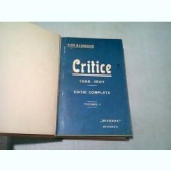 CRITICE - TITU MAIORESCU  3 VOLUME COLIGATE