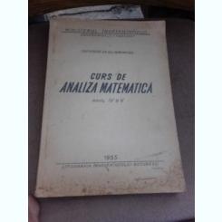 Curs de analiza matematica anul IV si V - Gh. Marinescu
