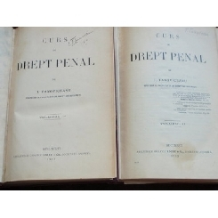 CURS DE DREPT PENAL - I. TANOVICEANU 2 VOLUME