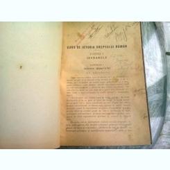 Curs de Istoria Dreptului Roman - I. Peretz