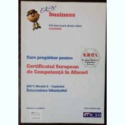CURS PREGATITOR PENTRU CERTIFICATUL EUROPEAN DE COMPETENTA IN AFACERI -NIVELUL A - CALCULATIA COSTURILOR - EASY BUSINESS