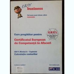 CURS PREGATITOR PENTRU CERTIFICATUL EUROPEAN DE COMPETENTA IN AFACERI -NIVELUL A - INTOCMIREA BILANTULUI - EASY BUSINESS