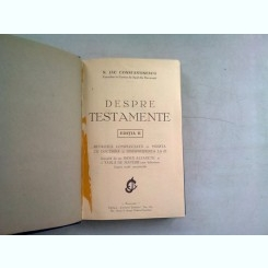 DESPRE TESTAMENTE - N. JAC CONSTANTINESCU