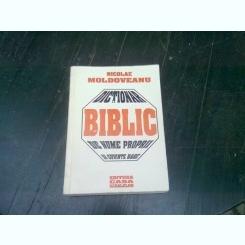 DICTIONAR BIBLIC DE NUME PROPRII SI CUVINTE RARE - NICOLAE MOLDOVEANU